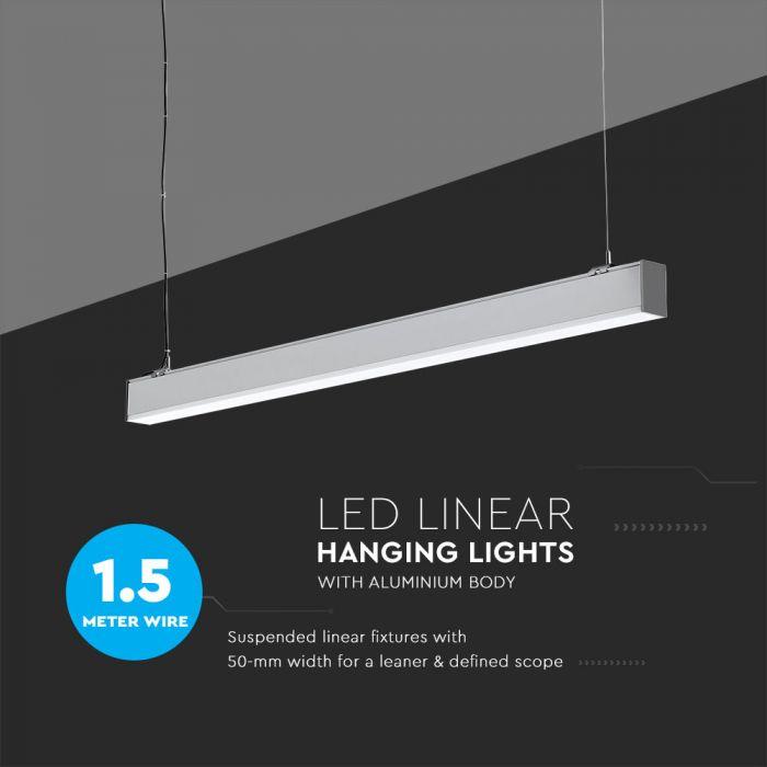 Dimmable 0-10V 40W Suspended LED Linear Light SAMSUNG 120CM - 4ft
