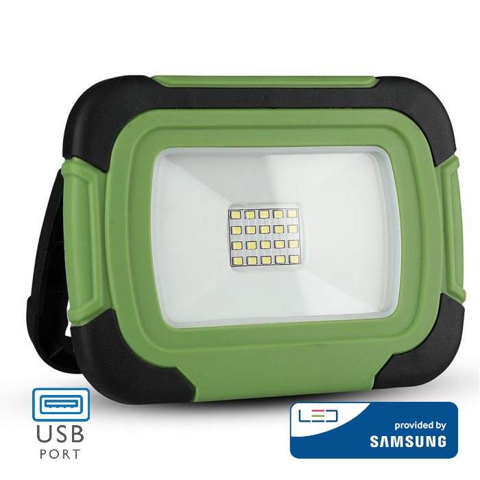 10W LED Floodlight Rechargeable SAMSUNG Chip USB + SOS Function IP44