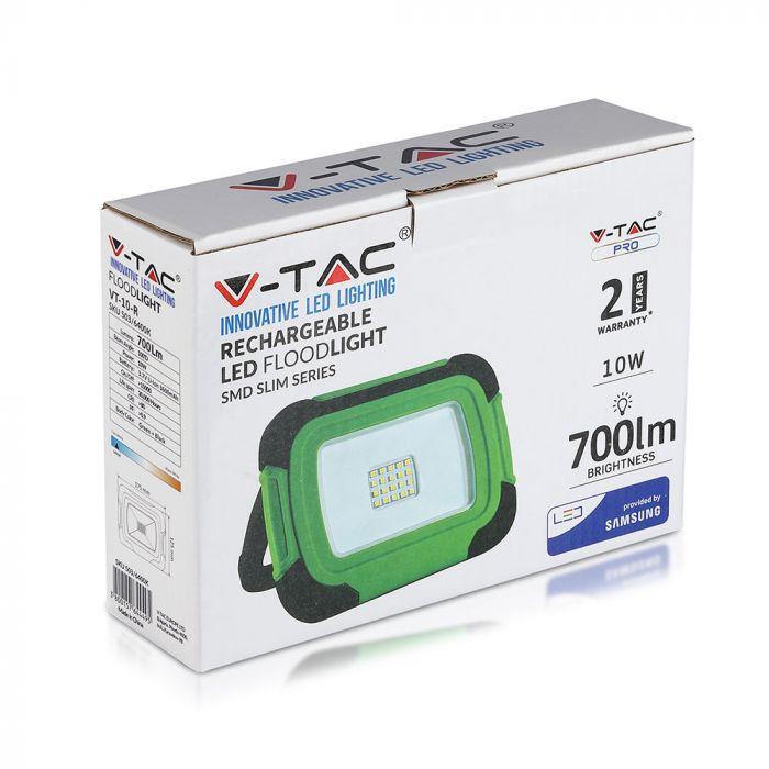 10W rechargeable LED floodlight, V-Tac VT-10-R