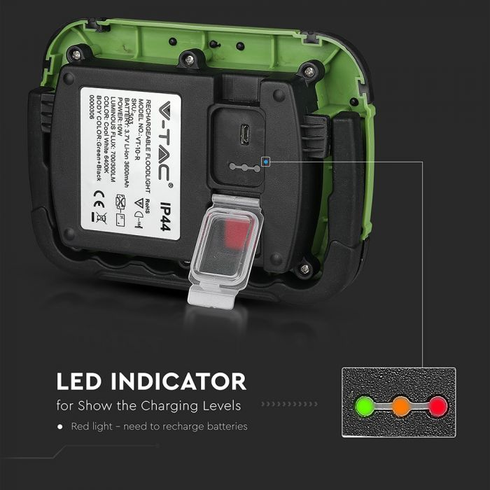 10W rechargeable LED floodlight