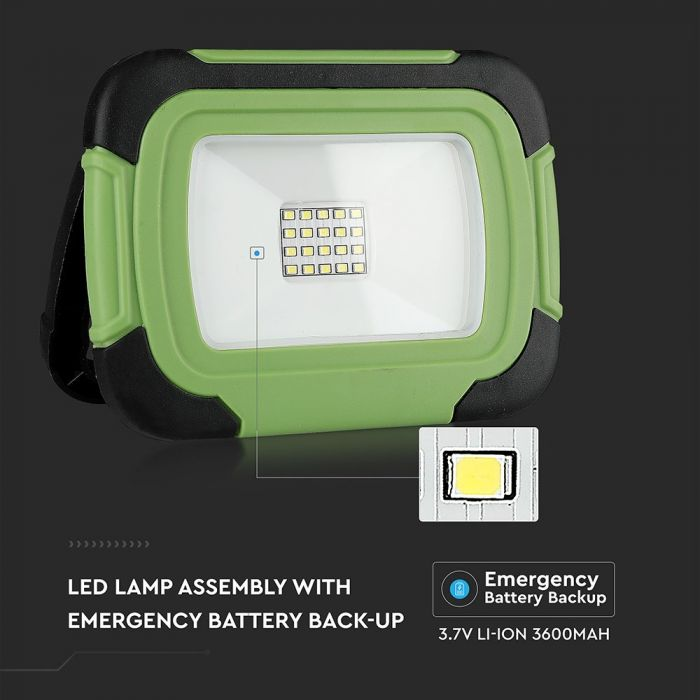 20W LED Floodlight Rechargeable SAMSUNG Chip + SOS Function IP44