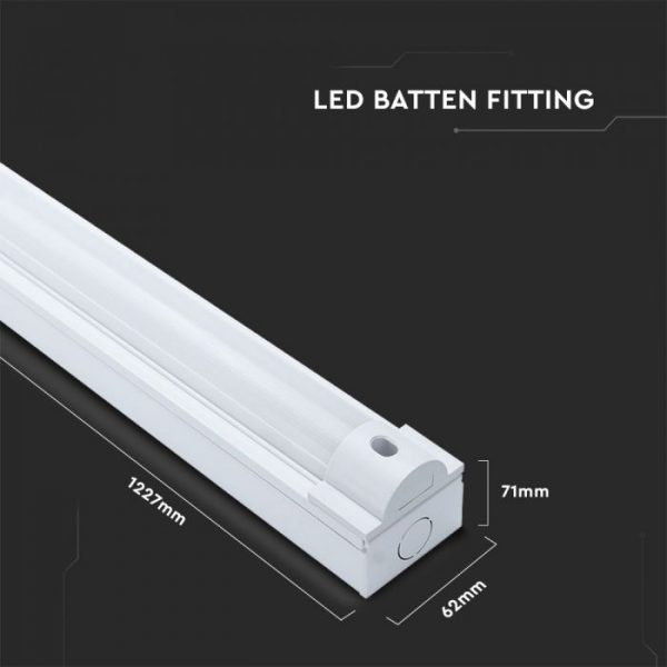 40W LED Batten Fitting -127cm with Samsung Chip CCT:3in1, 5y Warranty