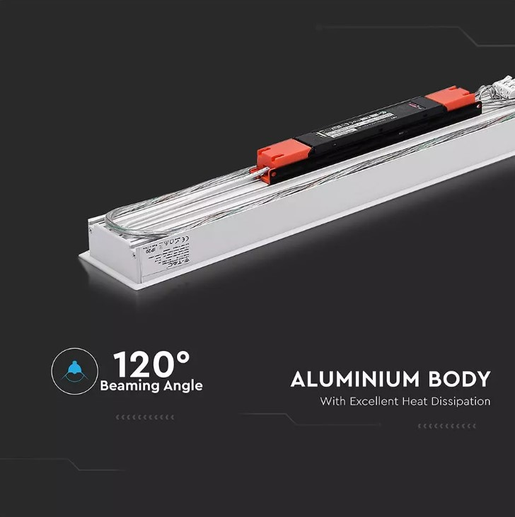 LED Linear Light SAMSUNG Chip - 40W Recessed W: 90mm