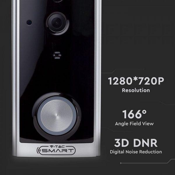 Smart Video Doorbell 2 Way Audio Black Body