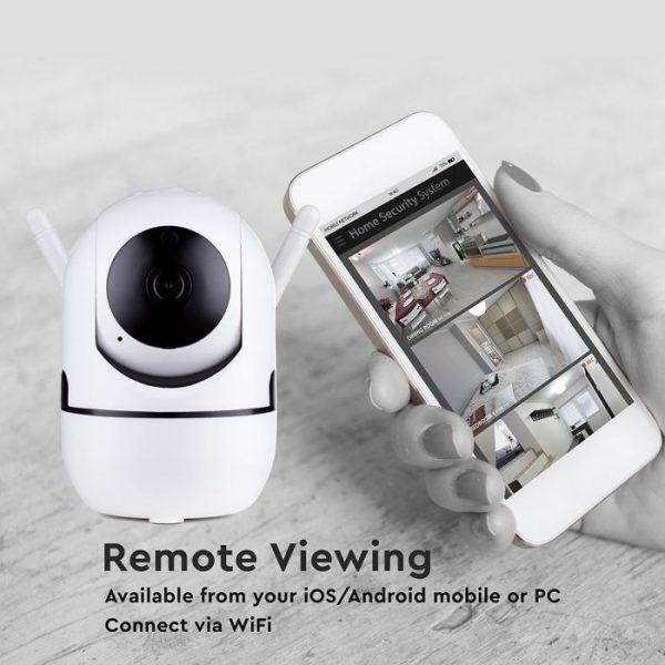 1080P Indoor Camera Auto-track Function, Night Vision & Sensor