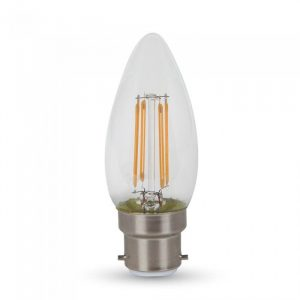 4W Candle Filament Bulb - Clear Cover