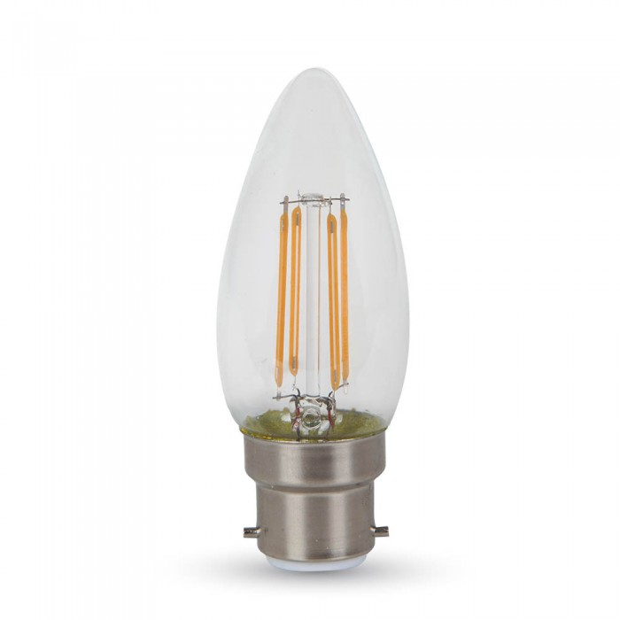 4W CANDLE FILAMENT BULB -CLEAR COVER WITH SAMSUNG CHIP