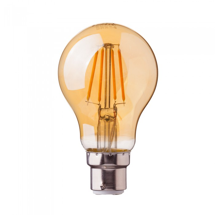4W A60 FILAMENT BULB-AMBER COVER WITH SAMSUNG CHIP