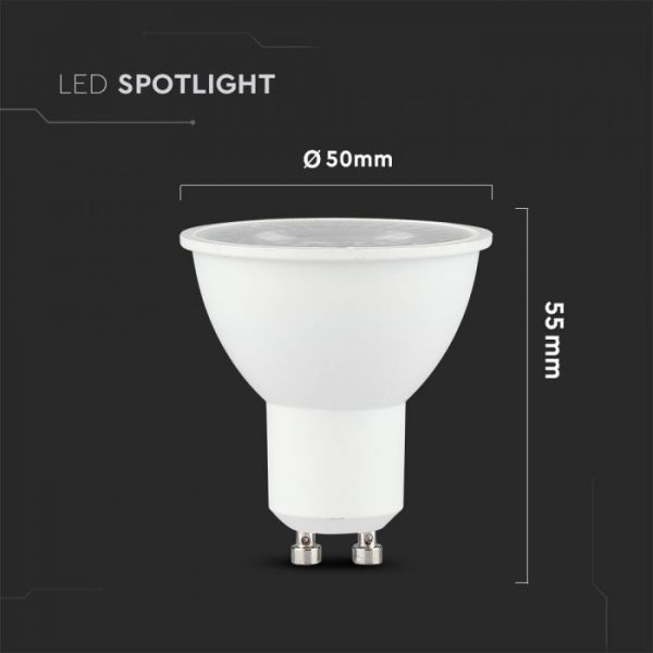 5W Plastic Spotlight 4000K 12pcs pack