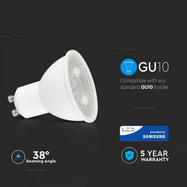 5W Plastic Spotlight 6400K 12pcs Pack