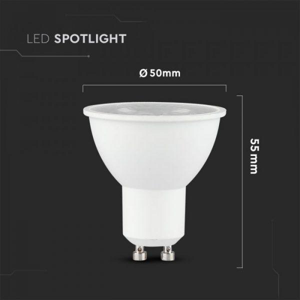 5W Plastic Spotlight Dimmable 6400K 12pcs pack