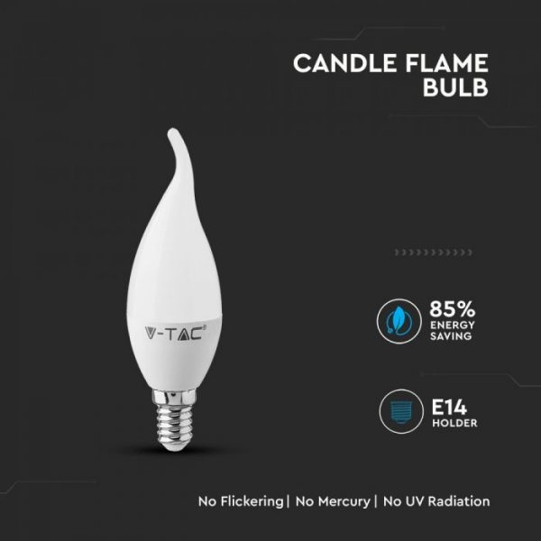 5.5W Plastic Candle Flame Bulb with Samsung Chip A+