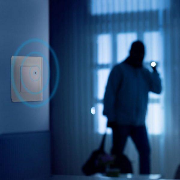 Wall Mount Microwave Sensor Switch White