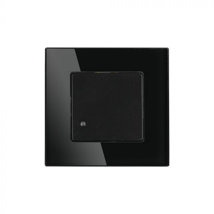 Wall Mount Microwave Sensor Switch Black