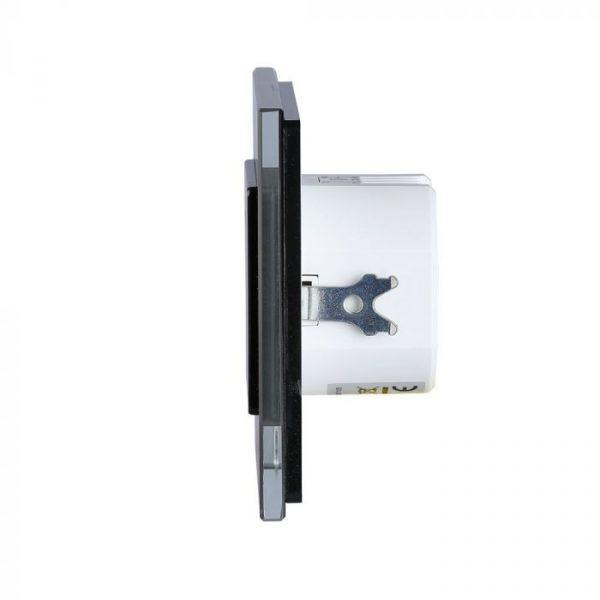 Wall Mount Microwave Sensor Switch Black