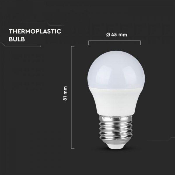 7W LED Bulb Golf Ball G45 E27