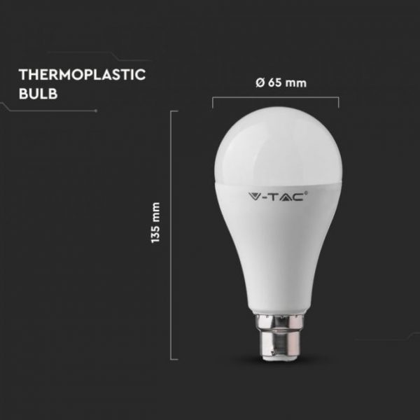 15W Plastic Bulb B22 SAMSUNG CHIP A65