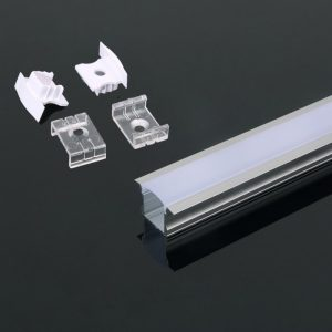 Deep Recessed Aluminium LED Channel set