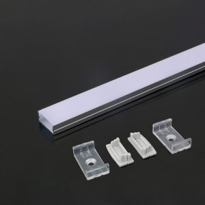 Anodised Aluminium LED Channel Square set Milky Diffuser Cover 2000x23.5x10mm