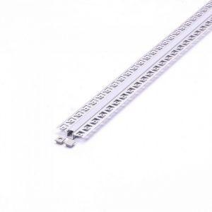 Narrow Plaster Aluminium Profile set 2m 9.5mm wide Milky Cover