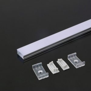 Aluminium LED Channel Square set 2000x23.5x10mm - Milky Diffuser Cover