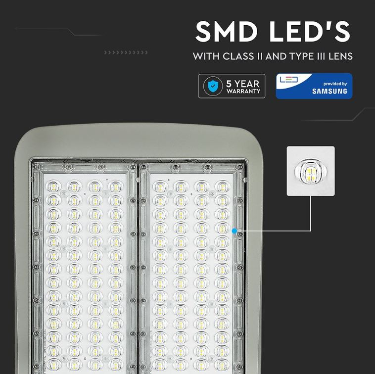 100W Samsung street lamp, Dimmable Street Lights