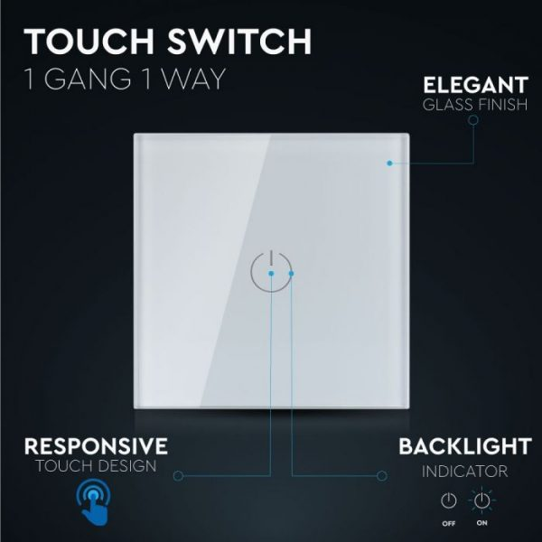 1 Gang 1 Way Touch Switch