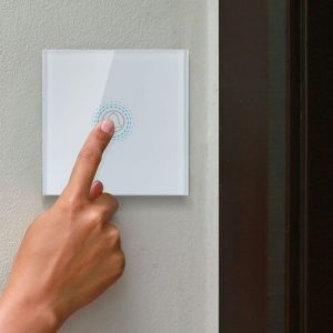 1 Gang 1 Way Doorbell Switch White