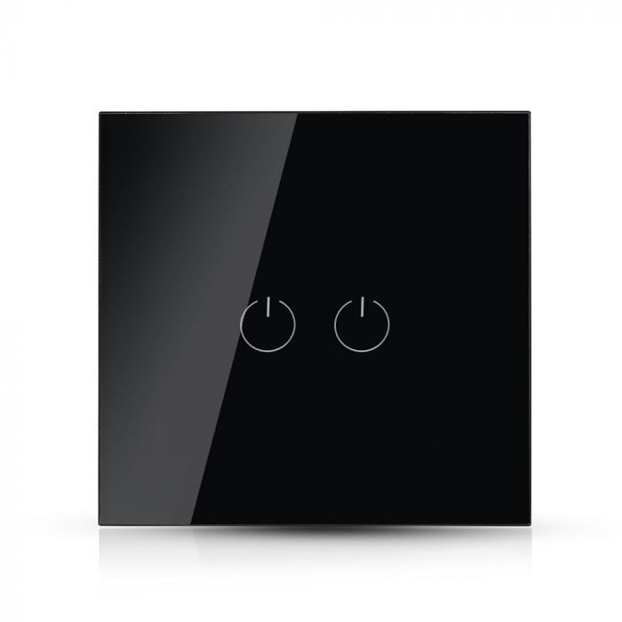 2 GANG 1 WAY TOUCH SWITCH-BLACK