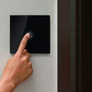 1 Gang 1 Way Doorbell Switch Black