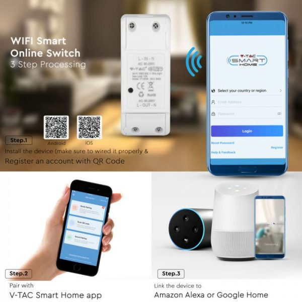 WIFI Online Switch-compatible with Amazon Alexa and Google Home