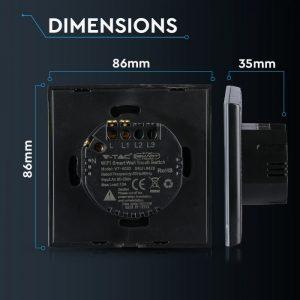 Single WIFI Touch Switch Smart Black