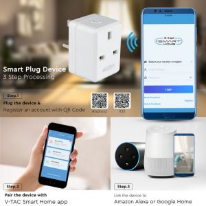 WIFI Mini BS Plug with USB-compatible with Amazon Alexa and Google Home