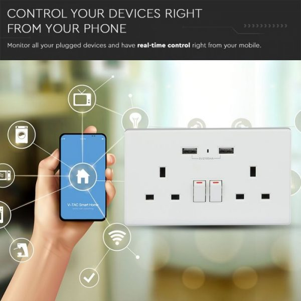 WIFI Wall Socket BS - compatible with Amazon Alexa and Google Home