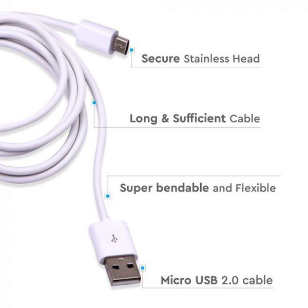 3M Micro USB Cable White