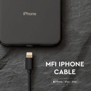 1.5M MFI iPhone Cable Black