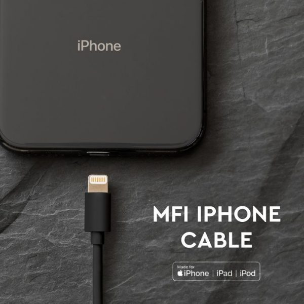 1.5M MFI iPhone Cable Black