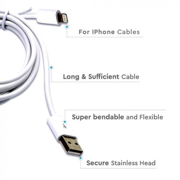 1.5M MFI iPhone Cable White