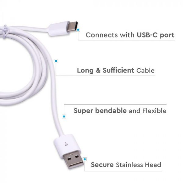 1.5M Type-C USB Cable White