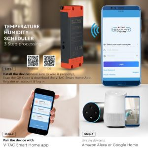 16A Temperature Humidity Scheduler compatible with Amazon Alexa and Google Home
