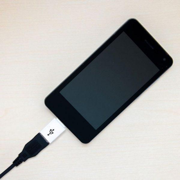 Micro USB to Type-C Adaptor White
