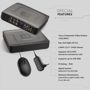 5IN1 DVR Recorder 4 Channel 1080N HD Hybrid Security AHD/CVI/TVI/IP/CVBS