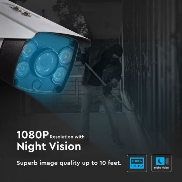 IP Security Camera 1080P for Indoor/Outdoor - 2.0MP Bullet Full Colour
