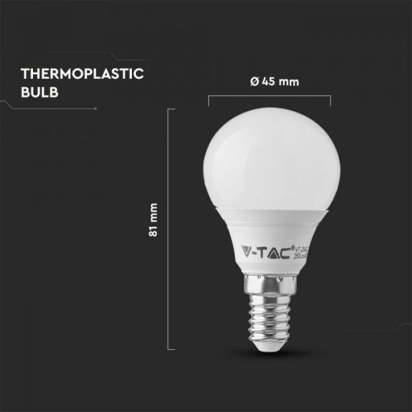 4.5W Plastic Bulb P45 - SAMSUNG CHIP A++