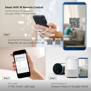 WIFI Infrared Universal Remote Control compatible with Amazon Alexa & Google Home