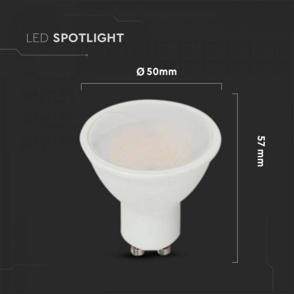 10W GU10 Plastic Spotlight 110° Milky Cover