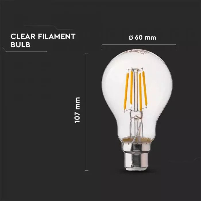 4W A60 Filament Bulb Clear Cover with Samsung Chip