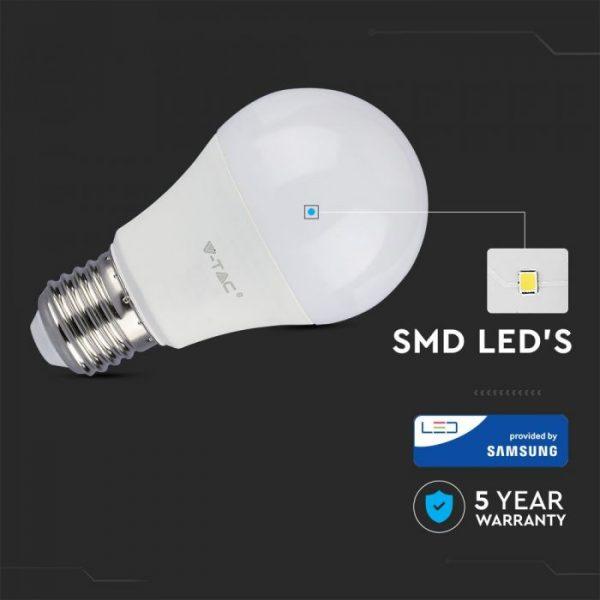 11W A60 LED Plastic Bulb Samsung Chip E27