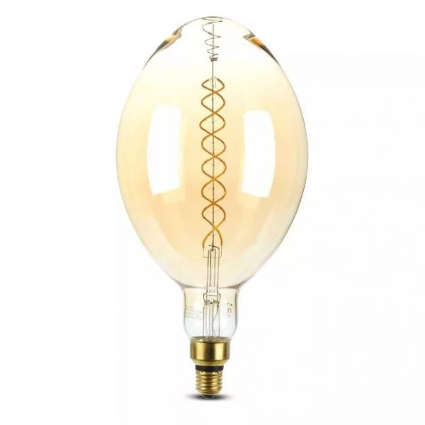 8W BF180 LED Amber Double Filament Bulb Dimmable
