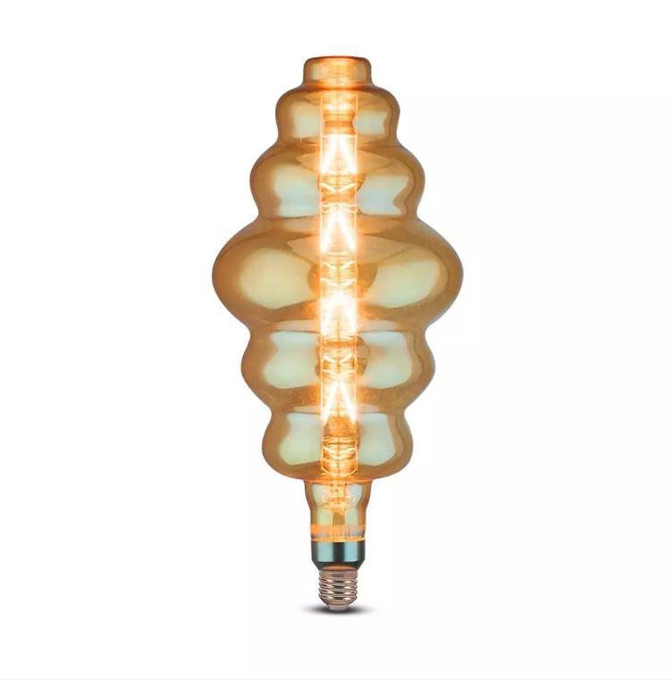 8W S180 Bulb Amber Glass